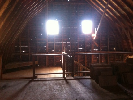 Our creepy barn interior for Danger Word
