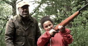 Frankie Faison (Grandpa Joe) and Saoirse Scott (Kendra) face the zombie plague