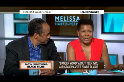 Tananarive Due and panelist Tim Reid (CLICK ON PHOTO to see the clip)